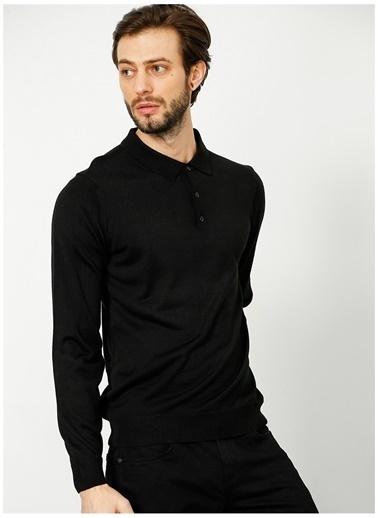 Fabrika Comfort Fabrika Comfort Polo Yaka Düz Siyah Kazak Siyah